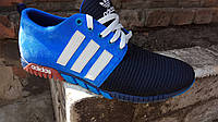 Мужские кроссовки адидас (светло синие), фото 1