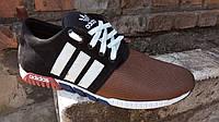 Мужские кроссовки адидас (черно коричневые), фото 1