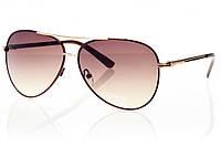 Женские солнцезащитные очки капли коричневый градиент