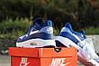 Модные кроссовки Nike Air Max 1 Flyknit,ярко синие, летние, фото 4