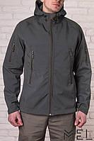 Брендовая мужская куртка MEL - Softshell - олива