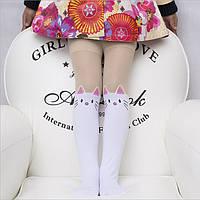 Колготы детские капроновые плотные белые для девочки