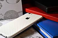 "Виниловая наклейка ""Белый карбон"" Iphone 6 / 6S (0,12 mm)"