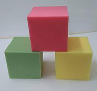 Детские кубики-пуфики поролоновые для игровых комнат  200х200х200мм