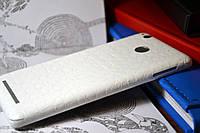 """Виниловая наклейка """"Белая кожа крокодила"""" Xiaomi Redmi 3S/3PRO (задняя часть) 0,17 mm"""