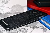 """Виниловая наклейка """"Чёрная алмазная крошка"""" Xiaomi Redmi 3S/3PRO (задняя часть) 0,11 mm"""
