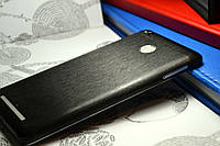 """Виниловая наклейка """"Чёрный металл"""" Xiaomi Redmi 3S/3PRO (задняя часть) 0,09 mm"""