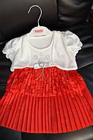 Платье с болеро на девочку 1,2 года