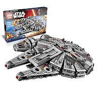 Конструктор Lepin 05007 Сокол Тысячелетия - аналог лего 75105 Star Wars, 1381 дет.