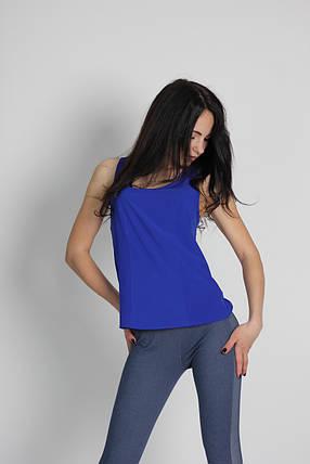 "Женская блузка - безрукавка ""Tasani"" электрик, фото 2"