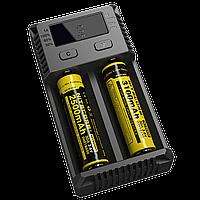 Nitecore Intellicharger NEW i2: 2 канала для зарядки, поддержка Li-ion/ IMR/ LiFePO4, 132х70х35 мм