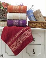 Банные турецкие махровые полотенца  Fira в ассортименте