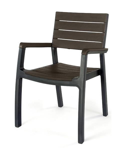 Стілець садовий Harmony armchair пластик Коричневий (Keter TM)