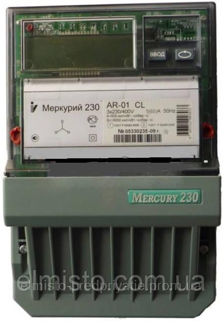 Электросчетчик Меркурий 230 AR-01 CL 3*230/380В 5-60A трехфазный с PLC модемом