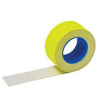 21,5 х12мм этикет лента флюорисцентная желтая 1500шт./ упаковка 64 рулона