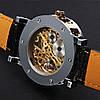 Часы мужские наручные Winner Skeleton black-gold, фото 5