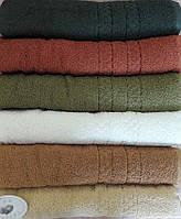 Однотонные махровые полотенца  Zigana, цвета и размеры в ассортименте