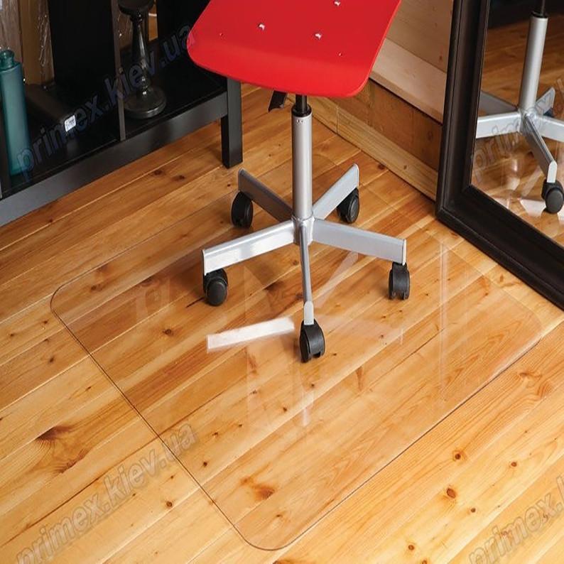 Ковер под кресло для защиты пола прозрачный 125х125см. Толщина 1,0мм