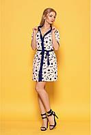 Женское практичное платье на лето 979 цвет пудра размер 42-50