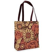 Женская сумка Нежность с принтом Цветник