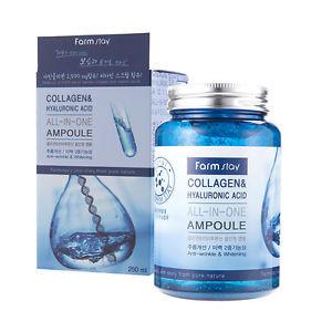 Сыворотка с коллагеном и гиалуроновой кислотой FARM STAY Collagen & Hyaluronic Acid All-In-One, 250 мл