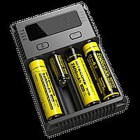 Зарядное устройство Nitecore i4 NEW: 4 канала зарядки, 10 Вт, 220В/12В, LED дисплей