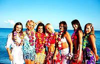 Гавайские бусы из цветов