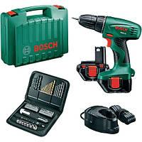 Шуруповерт аккумуляторный Bosch PSR 12 + набор оснастки