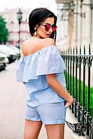 Крутой летний комбинезон  шорты и открытые плечи