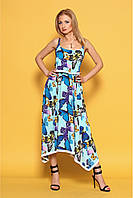 Женский летний сарафан на бретелях 978 цвет мята размер 44,46,50