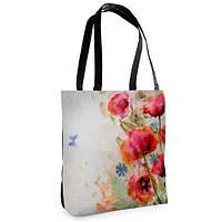 Женская сумка Нежность с принтом Маки