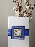 Махровая простынь на резинке 90х200 белая