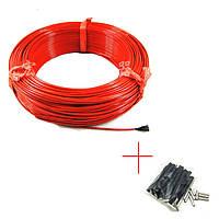 Карбоновый кабель К-12, R-33 Ом/м.пог, d-3мм. в силиконовой изоляции - для инкубатора