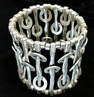 Браслет с многослойным серебряным покрытием