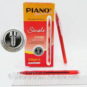 Ручка шариковая PT-1155 Simple красная