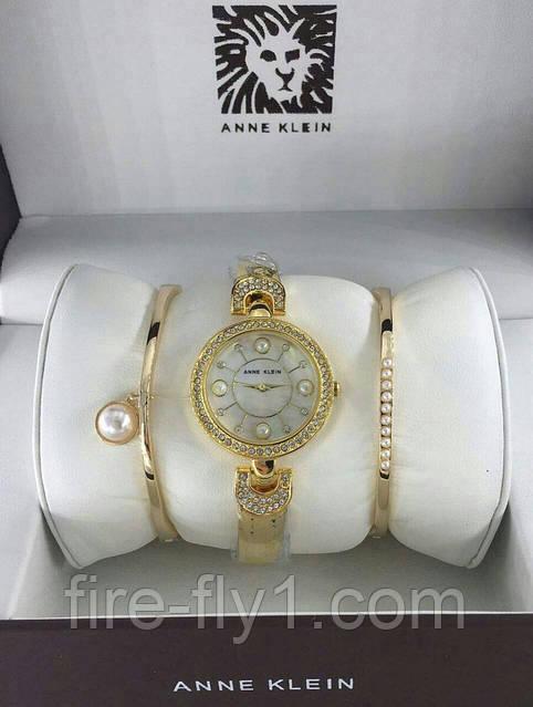 Женские часы Аnne Klein с браслетами и вставками из жемчуга, фото 1