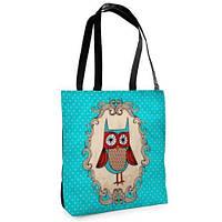 Женская сумка Нежность с принтом Совушка