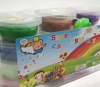 Тесто для лепки Детский пластилин Super Light Clay Niboshi 5D 12 цветов