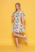 Женский летний легкий сарафан 977 цвет лимонный размер 42-48