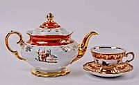 Чайный сервиз ОХОТА КРАСНАЯ Bavaria на 6 персон 15 предметов