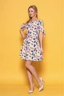 Женский летний легкий сарафан 977 цвет розовый размер 42-48