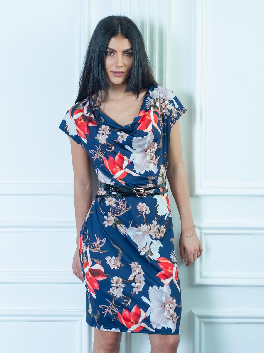 Летнее женское платье  с цветочным узором
