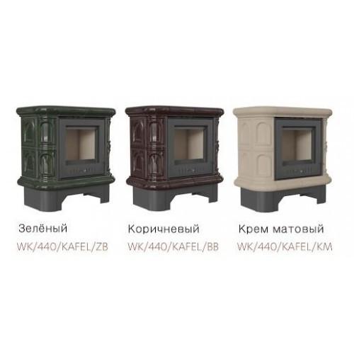 Стальная печь WK440 5 в кафельном обкладе- зеленая Kratki(Кратки)