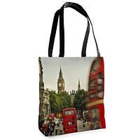 Женская сумка Нежность с принтом Лондон