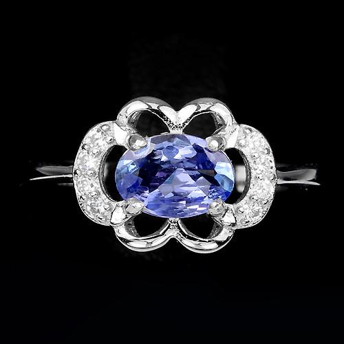 Танзанит, серебро 925, кольцо, 546КЦТ