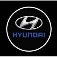Лазерная проекция логотипа Hyundai 074
