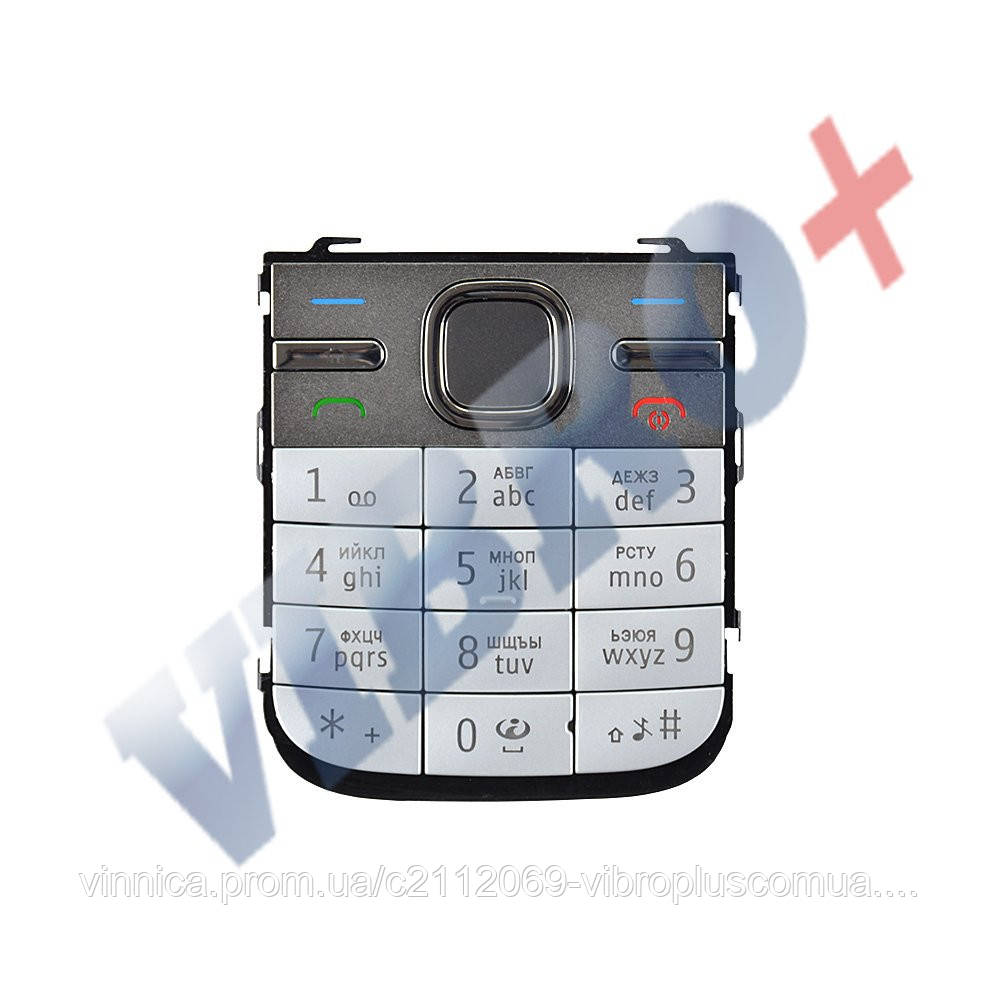 Клавиатура Nokia C5, цвет бело-серебряный