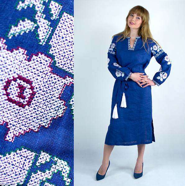 Плаття вишиванка - Квіти Барвисті - Вишиванки оптом и в розницу -  «ОптИнвест» в c5d61f9c2eaa2