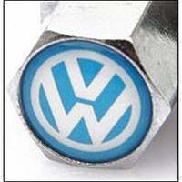Колпачки на ниппель в блистере (4 шт.+ ключ) VW-BLUE