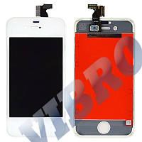 Дисплей iPhone 4S с тачскрином в сборе, цвет белый, копия высокого качества, TEST OK
